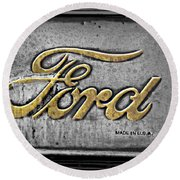 Ford Made In The Usa Round Beach Towel