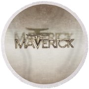 Ford Maverick Badge Round Beach Towel