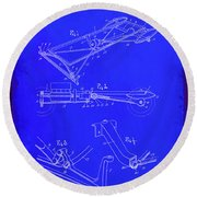 Ford Motor Vehicle Drawing 1b Round Beach Towel
