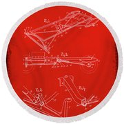 Ford Motor Vehicle Drawing 1e Round Beach Towel