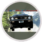 Ford Mustang Mach 1 Round Beach Towel