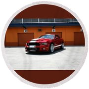 Ford Mustang Shelby Gt500 Round Beach Towel