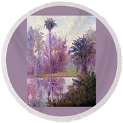 Ford Park-cloudy Morning Round Beach Towel