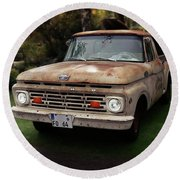 Ford Pickup, Ford 1964 Round Beach Towel