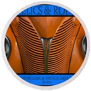 Ford 14 - Relics And Rods Round Beach Towel