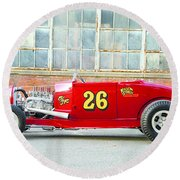 Ford Roadster Round Beach Towel