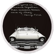 Ford Success Poster Round Beach Towel
