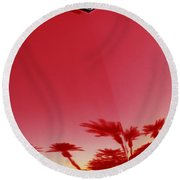 Ford Thunderbird Hood Ornament  Round Beach Towel