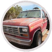 Ford Truck Round Beach Towel