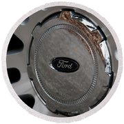Ford Trucking Round Beach Towel