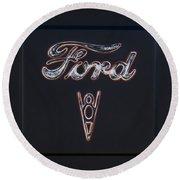 Ford V8 Round Beach Towel