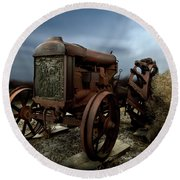 Fordson Tractor Round Beach Towel