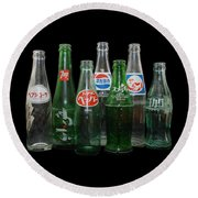 Foreign Cola Bottles Round Beach Towel