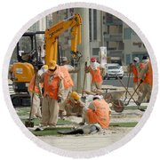 Foreign Workers - Manama Bahrain Round Beach Towel