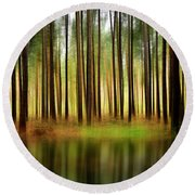 Forest Abstract Round Beach Towel
