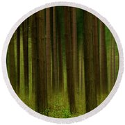 Forest Abstract01 Round Beach Towel