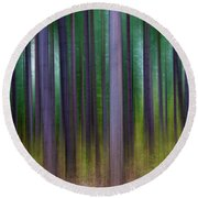 Forest Abstract02 Round Beach Towel
