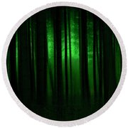 Forest Abstract03 Round Beach Towel