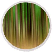Forest Abstract04 Round Beach Towel by Svetlana Sewell