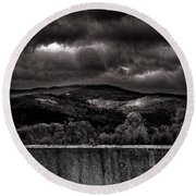 Forest Behind The Wall Round Beach Towel