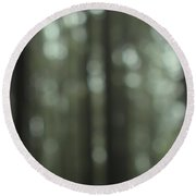 Forest Bokeh Round Beach Towel