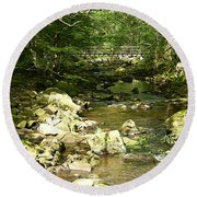 Forest Bridge Round Beach Towel