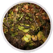 Forest Butterfly Round Beach Towel