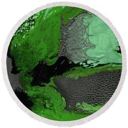 Forest Canopy Round Beach Towel