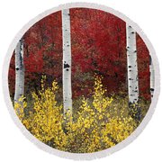 Forest Color Round Beach Towel