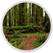 Forest Court Round Beach Towel