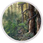 Forest Deep Round Beach Towel