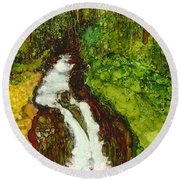 Forest Fall Round Beach Towel
