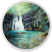Forest Falls Round Beach Towel
