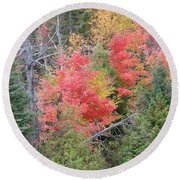 Forest Fire Round Beach Towel