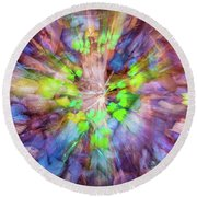 Forest Floor Fantasy Round Beach Towel