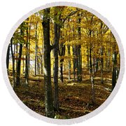 Forest Floor One Round Beach Towel