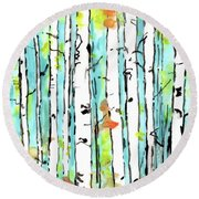 Forest For The Trees 2 Round Beach Towel