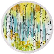 Forest For The Trees Round Beach Towel