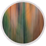 Forest Illusions -autumn Pastels Round Beach Towel
