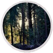 Forest Magic 8 Round Beach Towel