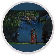 Forest Mingle Round Beach Towel