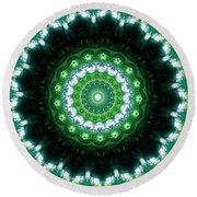 Forest Moon Round Beach Towel