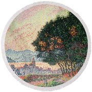 Forest Near St Tropez Round Beach Towel