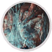 Forest Of A Different Color Round Beach Towel