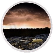 Forest Of Fontainebleau Round Beach Towel