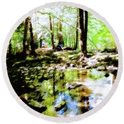 Forest People Round Beach Towel