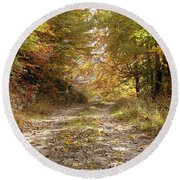 Forest Stone Path Round Beach Towel