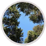 Forest Treetops Round Beach Towel
