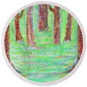 Forest View Round Beach Towel