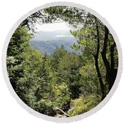 Forest View From Mt Tamalpais Round Beach Towel